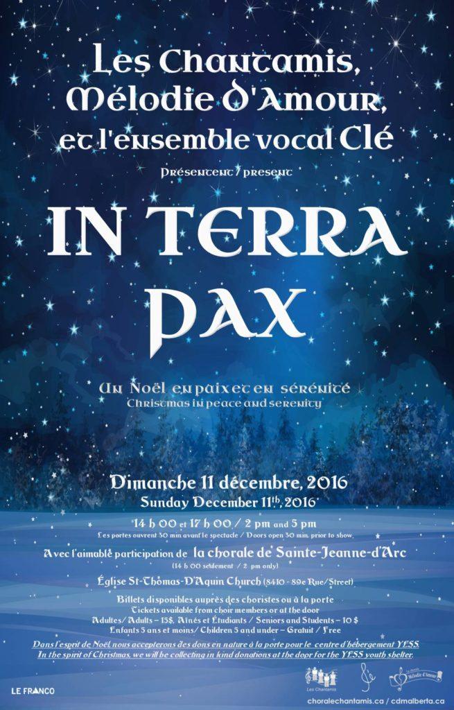 Affiche pour concert de Noël