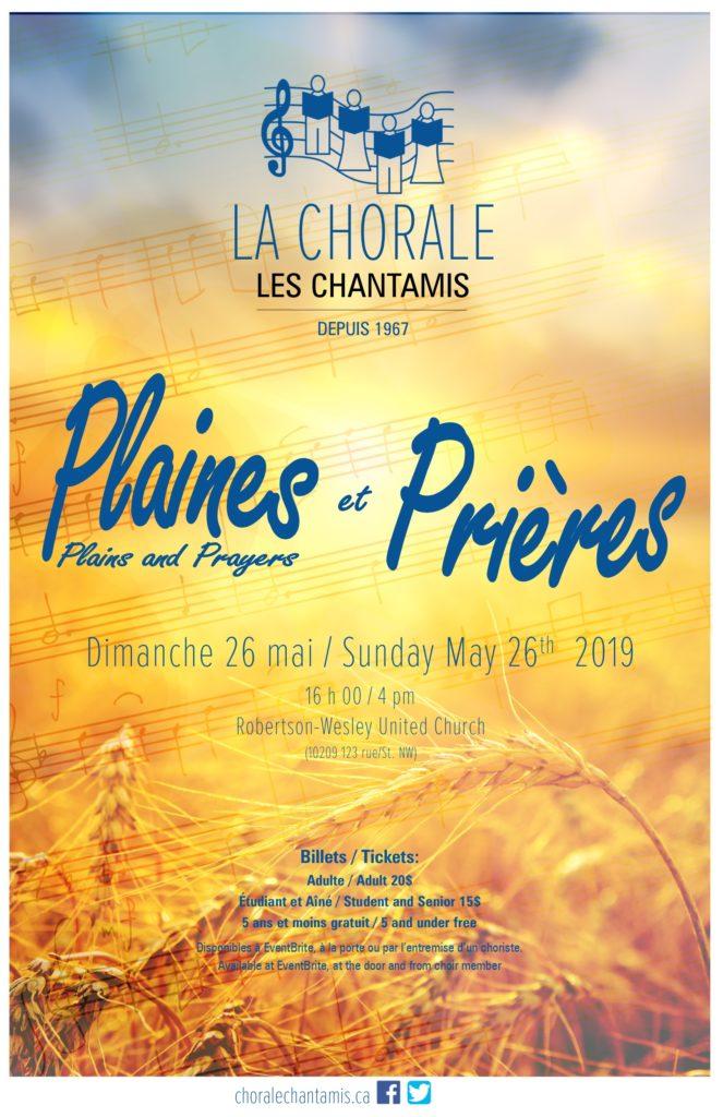 Plaines et prières Concert de printemps des Chantamis  d'Edmonton 2019